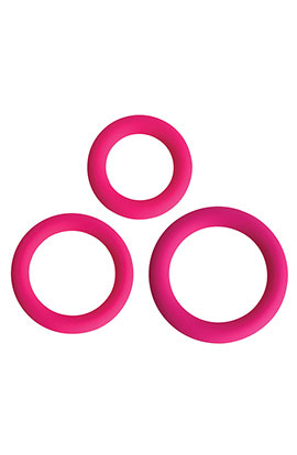 Gossip - Love Ring Trio - Magenta, Set of 3 Cock Rings.