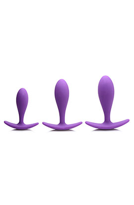 Gossip Rump Bumpers - Violet, 3 Smooth Graduated Sizes Anal Plugs.