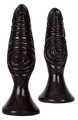 Royal Hiney Red The Pawns - Black, Whimsically Textured Anal Plug.