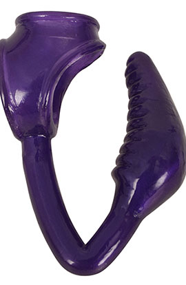 Royal Hiney Red The Earl - Purple, RegallyCurved Anal Plug.