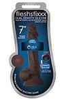 "Fleshstixxx 7"" Silicone Dildo With Ball Chocolate, 7 Inch Chocolate Silicone Dildo with Balls and Suction Cup."